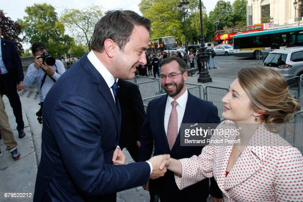 Prime Minister of Luxembourg Xavier Bettel GrandDuc Heritier Guillaume and GrandeDuchesse Heritiere Stephanie De Luxembourg attend the 'Revelations'...