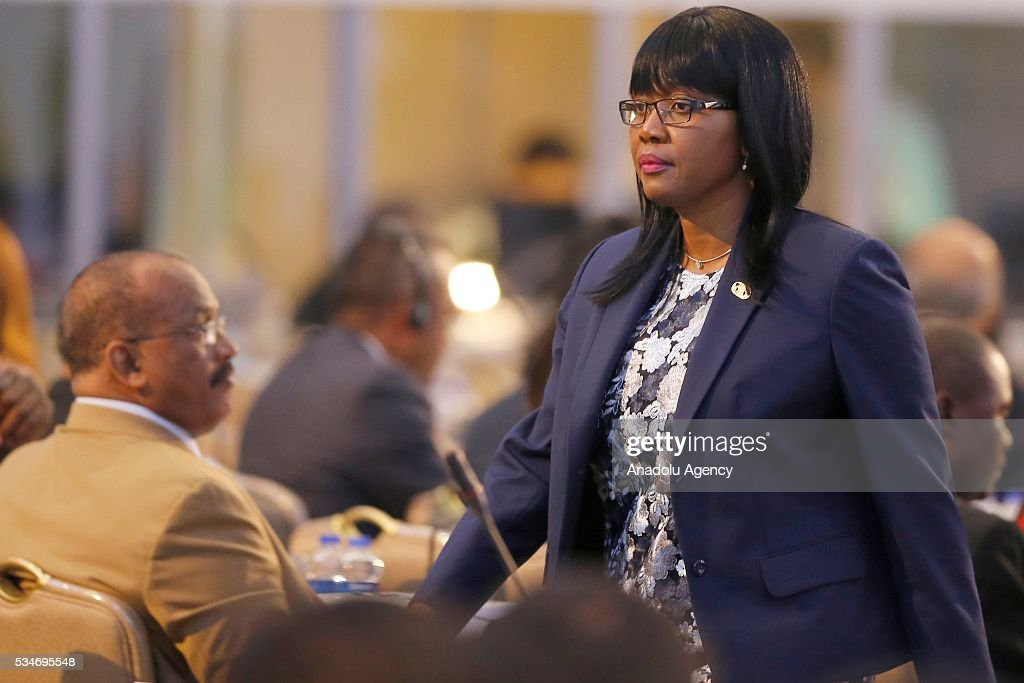Prime Minister of Namibia Saara Kuugonggelwa attends the Midterm Review of the Istanbul Programme of Action at Titanic Hotel in Antalya, Turkey on May 27, 2016. The Midterm Review conference for the Istanbul Programme of Action for the Least Developed Countries takes place in Antalya, Turkey from 27-29 May 2016. The conference will undertake a comprehensive review of the implementation of the Istanbul Programme of Action by the least developed countries (LDCs) and their development partners and likewise reaffirm the global commitment to address the special needs of the LDCs.