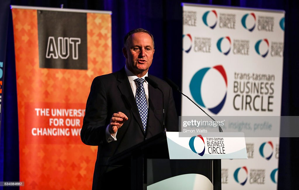 Prime Minister of New Zealand the Right Honourable <a gi-track='captionPersonalityLinkClicked' href=/galleries/search?phrase=John+Key&family=editorial&specificpeople=2246670 ng-click='$event.stopPropagation()'>John Key</a> on May 27, 2016 in Auckland, New Zealand. Finance Minister Bill English released his eighth budget on Thursday, announcing the Federal Government will spend $77.4 billion in the next 12 months with health, education and social welfare to receive the most funding.