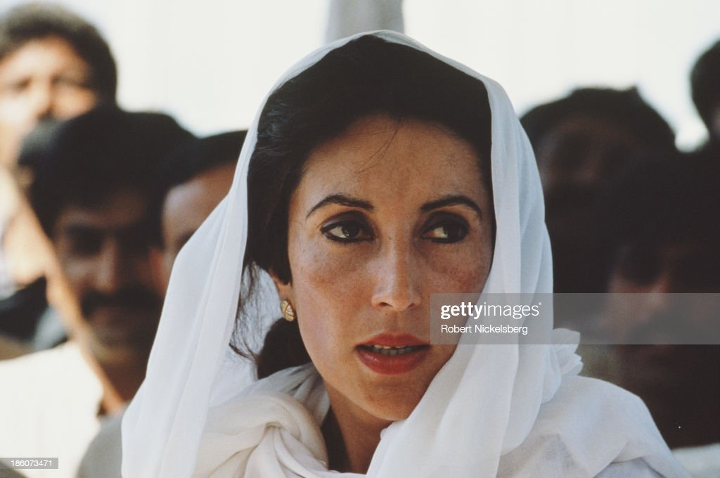 Prime Minister of Pakistan <a gi-track='captionPersonalityLinkClicked' href=/galleries/search?phrase=Benazir+Bhutto&family=editorial&specificpeople=202012 ng-click='$event.stopPropagation()'>Benazir Bhutto</a> (1953 - 2007), Islamabad, Pakistan, 1993.