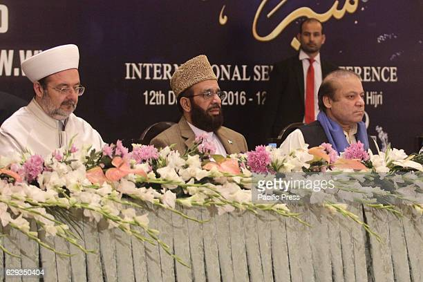 Prime Minister of Pakistan Mian Muhammad Nawaz Sharif and Turkish Head of the Religious Affairs Directorate Mehmet Gormez Federal Minister for...