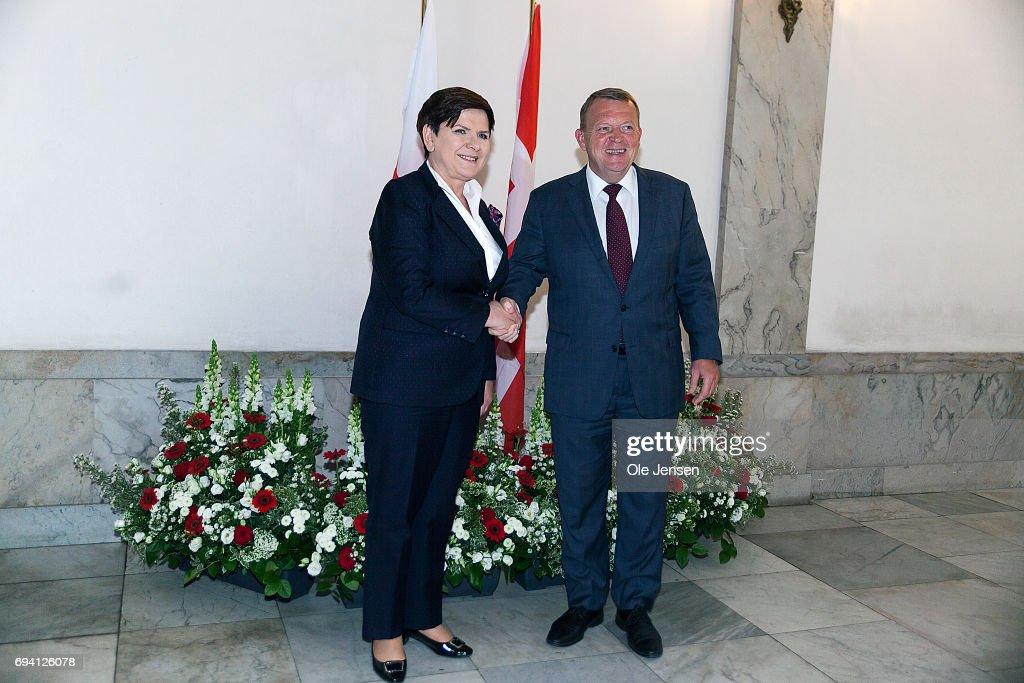 Prime Minister of Poland Beata Szydlo Visits Danish PM In Copenhagen