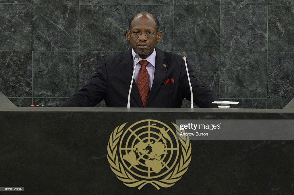 Prime Minister of Saint Kitts and Nevis, Denzil Douglas, speaks at the 68th United Nations General Assembly on September 27, 2013 in New York City. Over 120 prime ministers, presidents and monarchs are gathering this week for the annual meeting at the temporary General Assembly Hall at the U.N. headquarters while the General Assembly Building is closed for renovations.