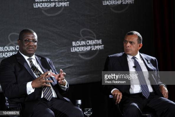 Prime Minister of Saint Lucia Stephenson King and President of Honduras Porfirio Lobo Sosa attend 2010 Blouin Creative Leadership Summit Day 1 at the...