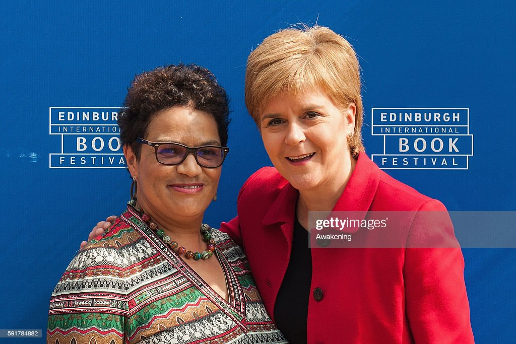 Prime Minister of Scotland Nicola Sturgeon and the poet and novelist Jackie Kay attend the Edinburgh International Book Festival on August 18, 2016 in Edinburgh, Scotland. The Edinburgh International Book Festival is one of the most important annual literary events, and takes place in the city which became a UNESCO City of Literature in 2004.