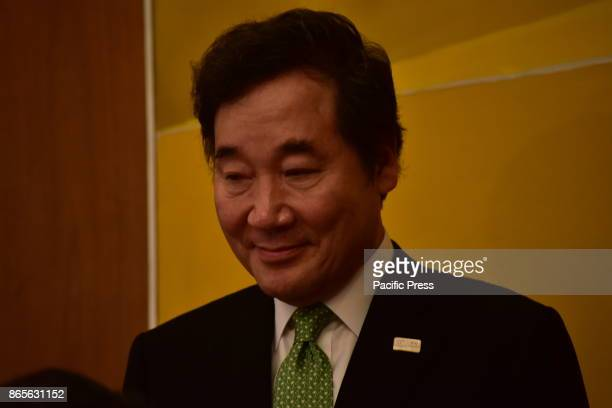 MANSION ATHENS ATTIKI GREECE Prime Minister of South Korea Lee Nak Yon during the signature of the memorandum of cooperation between Greece and South...