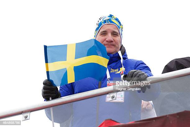 Prime Minister of Sweden Stefan Lofven attends the FIS Nordic World Ski Championships on March 1 2015 in Falun Sweden
