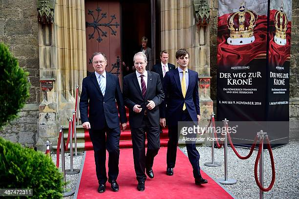 Prime Minister of the State of Lower Saxony Stephan Weil mayor of Hanover Stefan Schostock and Prince Ernst August of Hanover attend the official...