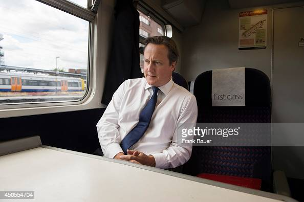 Prime minister of the United Kingdom David Cameron is photographed for Red magazine on November 1 2013 in London England
