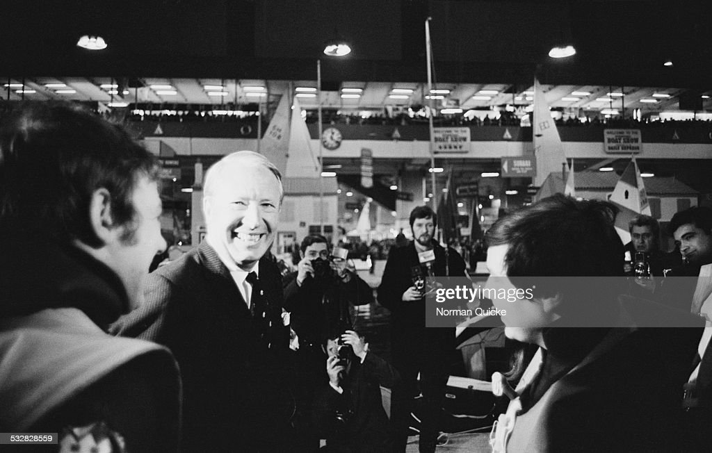 Prime Minister of the United Kingdom Edward Heath at the London Boat Show 1970