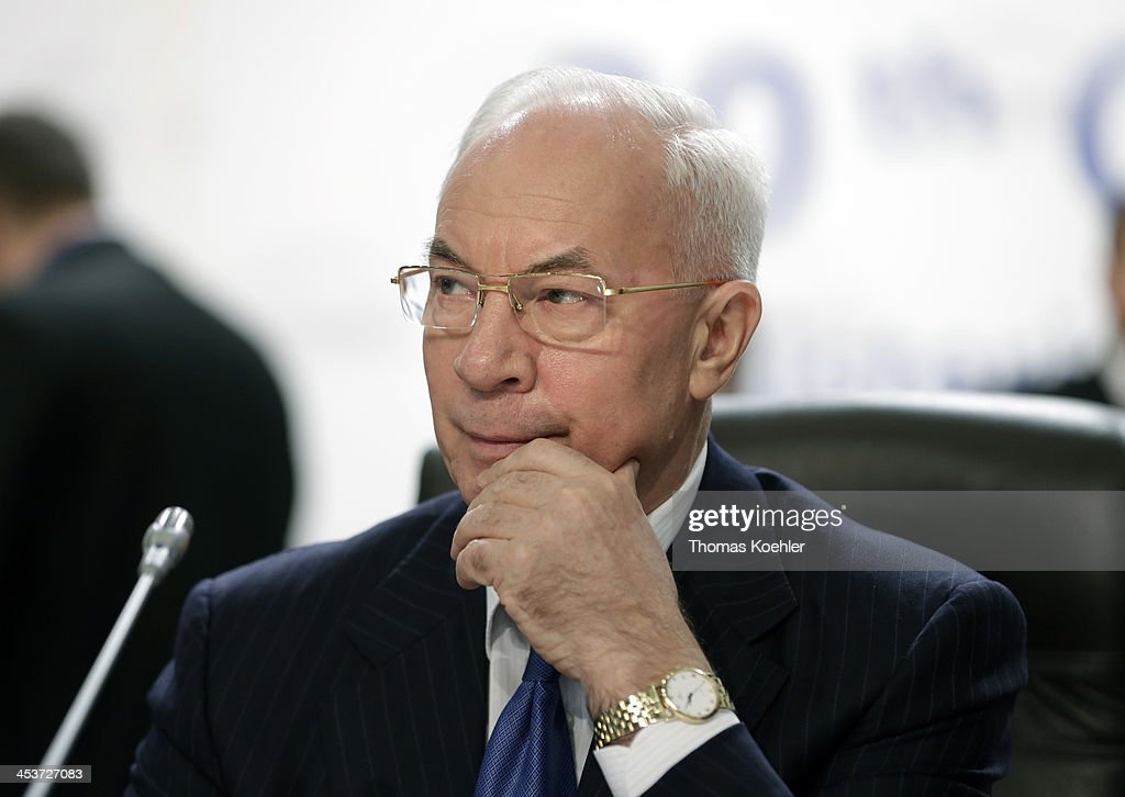 Prime Minister of Ukraine <a gi-track='captionPersonalityLinkClicked' href=/galleries/search?phrase=Mykola+Azarov&family=editorial&specificpeople=764965 ng-click='$event.stopPropagation()'>Mykola Azarov</a> during the 20st OSCE Foreign Ministers meeting on December 05, 2013 in Kiev, Ukraine.