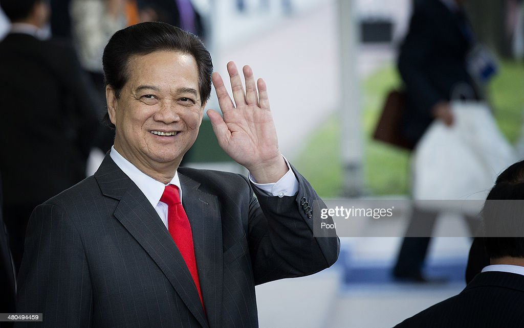 Prime Minister of Vietnam <a gi-track='captionPersonalityLinkClicked' href=/galleries/search?phrase=Nguyen+Tan+Dung&family=editorial&specificpeople=544511 ng-click='$event.stopPropagation()'>Nguyen Tan Dung</a> departs at the conclusion of the 2014 Nuclear Security Summit on March 25, 2014 in The Hague, Netherlands. Leaders from around the world have come to discuss matters related to international nuclear security, though the summit is overshadowed by recent events in Ukraine.