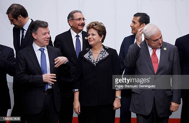 Prime Minister Pedro Passos Coelho of Portugal President Juan Manuel Santos of Colombia President Danilo Medina of Dominican Republic President Dilma...