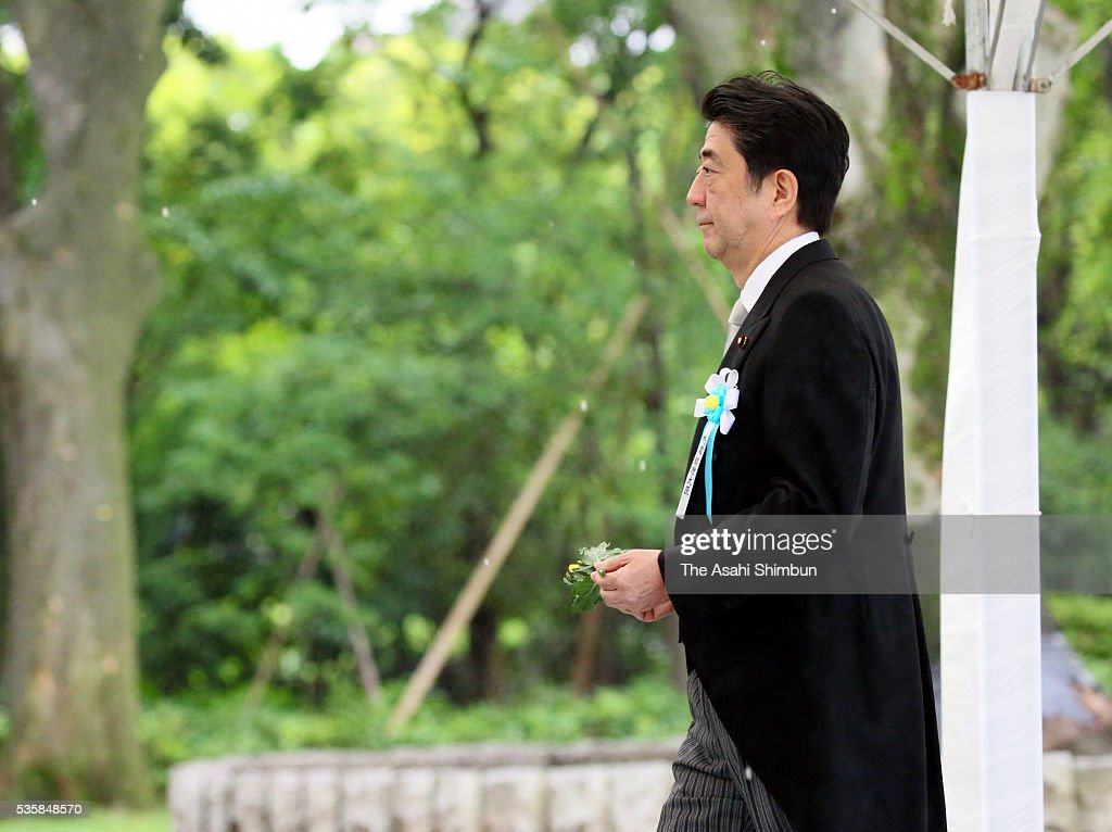 Prime Minister <a gi-track='captionPersonalityLinkClicked' href=/galleries/search?phrase=Shinzo+Abe&family=editorial&specificpeople=559017 ng-click='$event.stopPropagation()'>Shinzo Abe</a> attends the memorial ceremony at the Chidorigafuchi National Cemetery on May 30, 2016 in Tokyo, Japan. Ashes of 2,337 War dead in WWII, which recovered from Russia and South Pacific Islands are placed.