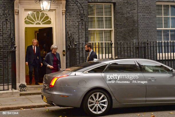 Prime Minister Theresa May and Brexit Secretary David Davis leaving Downing Street London for Brussels and a showdown with chief Brexit negotiator...