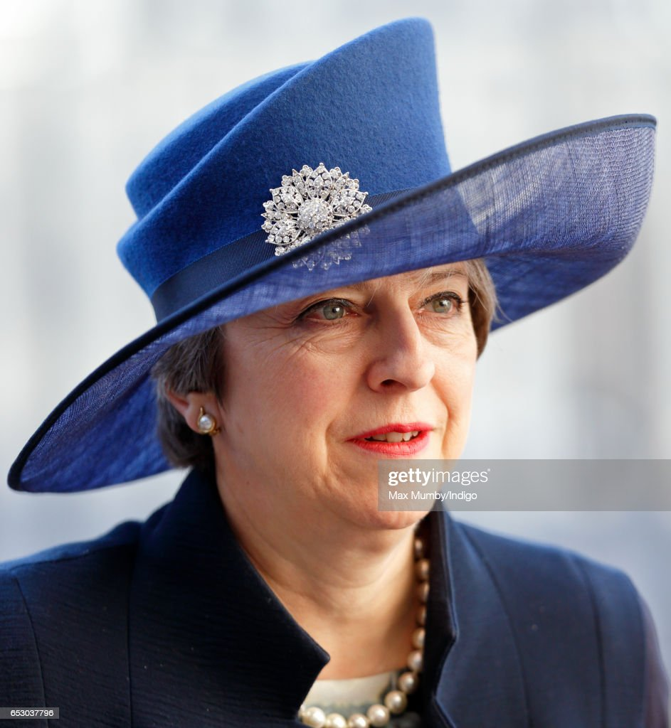 Prime Minister Theresa May attends the Commonwealth Day Service at Westminster Abbey on March 13, 2017 in London, England.