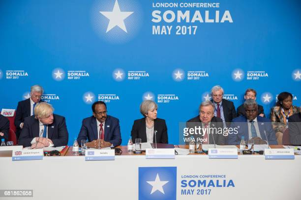 Prime Minister Theresa May chairs the London Conference on Somalia with Foreign Secretary Boris Johnson Abdullahi Mohamed President of Somalia and...