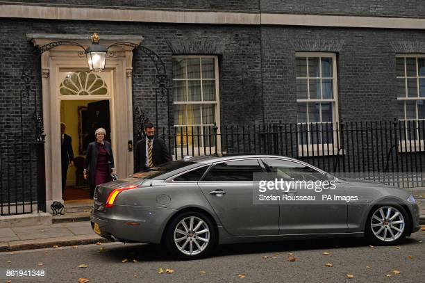 Prime Minister Theresa May leaving Downing Street London for Brussels and a showdown with chief Brexit negotiator Michel Barnier and Commission...