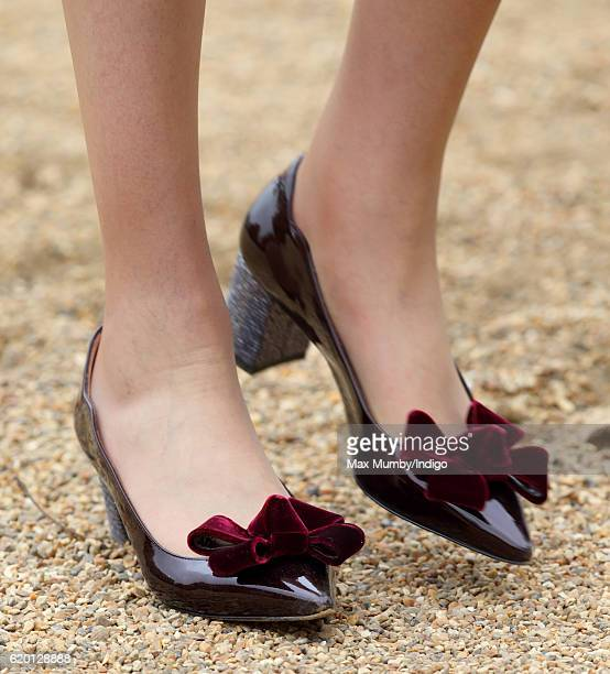 Prime Minister Theresa May shoe detail attends the Ceremonial Welcome for the President of Colombia at Horse Guards Parade on November 1 2016 in...