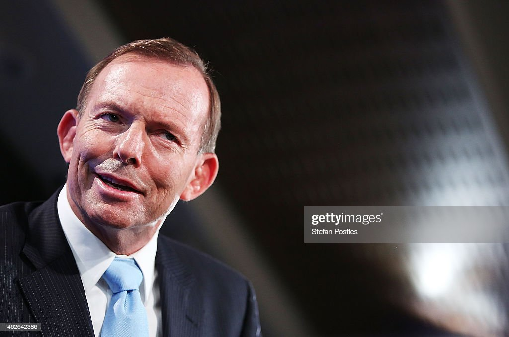 Prime Minister <a gi-track='captionPersonalityLinkClicked' href=/galleries/search?phrase=Tony+Abbott&family=editorial&specificpeople=220956 ng-click='$event.stopPropagation()'>Tony Abbott</a> speaks at the National Press Club on February 2, 2015 in Canberra, Australia. Prime Minister Abbott will lay out his 2015 plans as his ability to lead the party is questioned by political commentators following the unpopular decision to knight Prince Philip and Coalition party loss in the Queensland election.