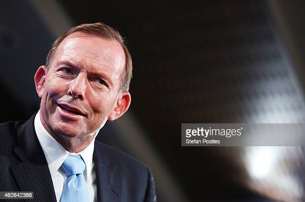 Prime Minister Tony Abbott speaks at the National Press Club on February 2 2015 in Canberra Australia Prime Minister Abbott will lay out his 2015...