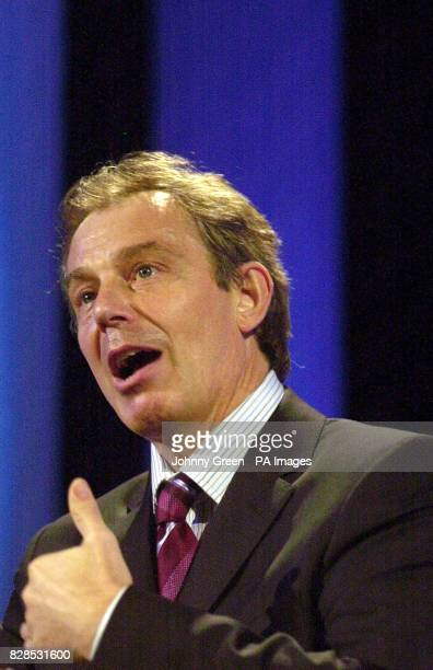 Prime Minister Tony Blair addresses an international conference entitled 'Birth Rights Liberty Through Legislation' at the Queen Elizabeth II...