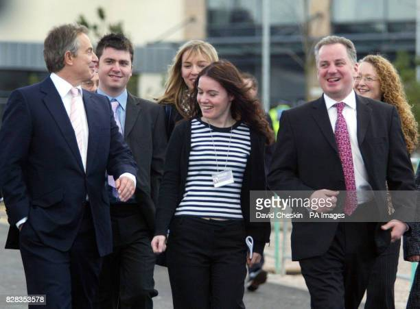Prime Minister Tony Blair and First Minister Jack McConnell leave the Scottish Labour Party Conference Friday February 24 2006 Earlier Mr Blair...