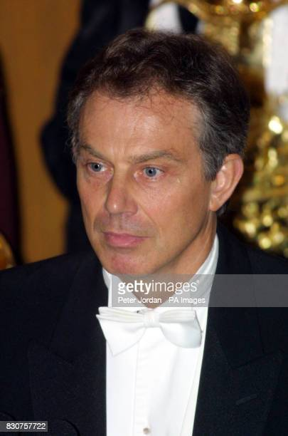 Prime Minister Tony Blair arrives at London's Guild Hall for the Lord Mayor's Banquet