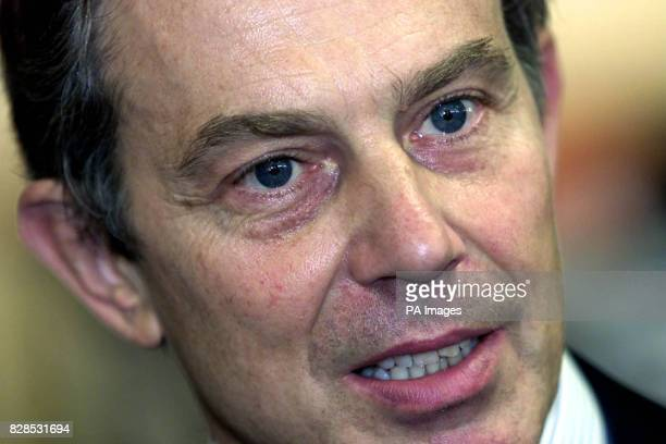 Prime Minister Tony Blair at the Queen Elizabeth II Conference Centre in central London aimed at celebrating 100 years of professional midwifery