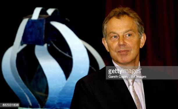 Prime Minister Tony Blair during a speech to pupils at Greenfield School in Newton Aycliffe