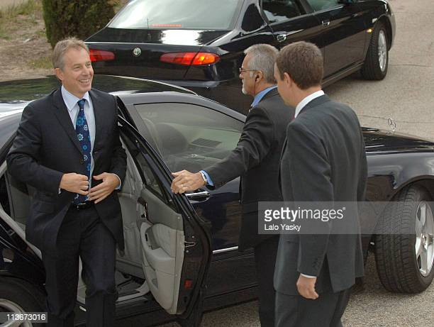 Prime Minister Tony Blair is Received by Spanish President Jose Luis Rodriguez Zapatero at La Quinta Palace in Madrid