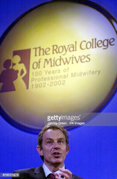 Prime Minister Tony Blair makes a keynote speech as he addresses an international conference entitled 'Birth Rights Liberty Through Legislation' at...