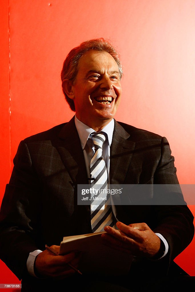 Prime Minister Tony Blair makes a keynote speech on the choice voters face on the future of Scotland before campaigning on April 13, 2007 in Glasgow, Scotland. The Scottish Parliament and council elections will be held on May 3.
