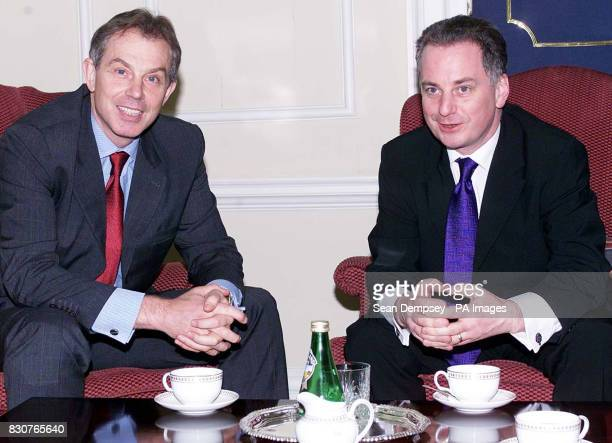 Prime Minister Tony Blair meets Scotlands newlyelected First Minister Jack McConnell inside Downing Street McConnell who is to meet the Queen is...
