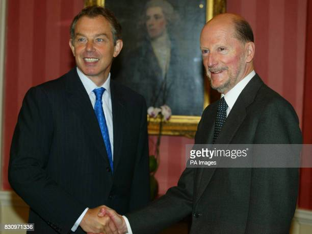 Prime Minister Tony Blair shakes hands with Bulgarian Prime Minister Simeon SaxeCoburg inside 10 Downing Street in London * Commenting on events in...
