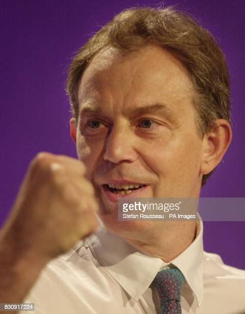 Prime Minister Tony Blair speaks to delegates at the annual conference of 'Progress' a new Labour think tank for public services in London Tony Blair...