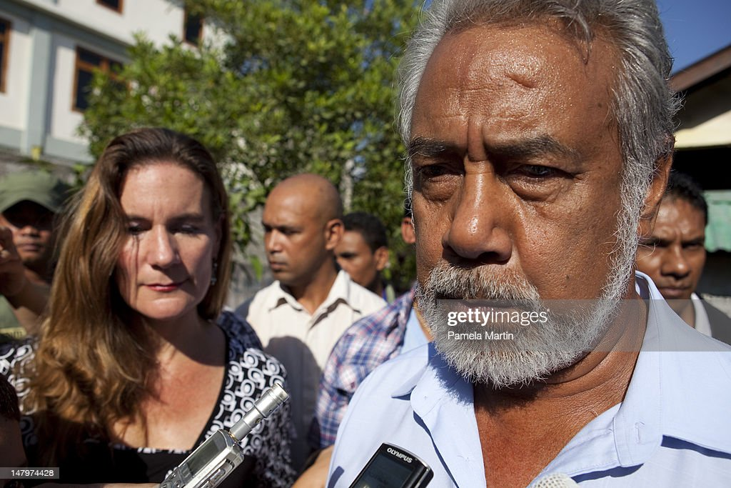 Prime Minister <a gi-track='captionPersonalityLinkClicked' href=/galleries/search?phrase=Xanana+Gusmao&family=editorial&specificpeople=223915 ng-click='$event.stopPropagation()'>Xanana Gusmao</a> and his wife Kirsty Gusmao cast their vote during Parliamentary Elections on July 7, 2012 in Dili, East Timor. 21 parties are contesting in the country's first election without UN assistance. The UN is due to withdraw from the sovereign state in six months if the elections happen in a peaceful and fair manner.