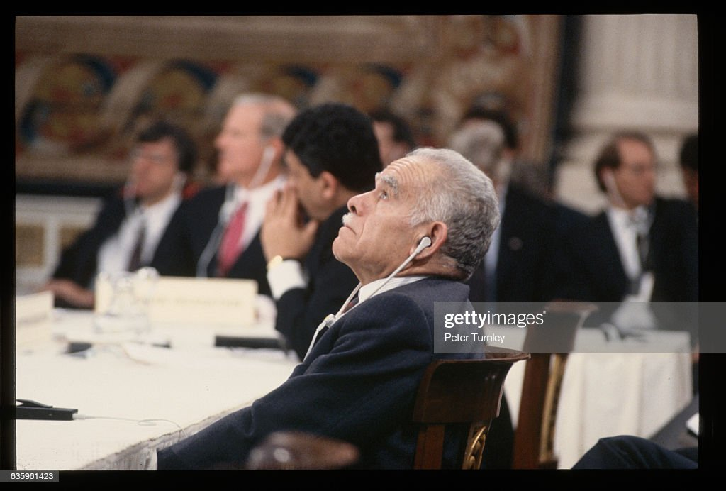 Prime Minister Yitzhak Shamir at Mideast Peace Conference of 1991