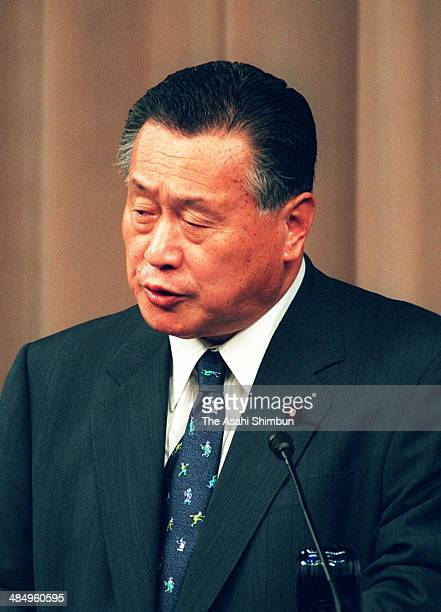 Prime Minister Yoshiro Mori speaks during a press conference at his official residence on May 26 2000 in Tokyo Japan Yoshiro Mori is two times Prime...