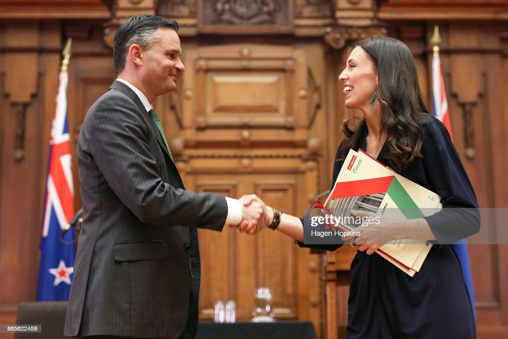 Jacinda Ardern Signs Coalition Agreements With NZ First And Greens