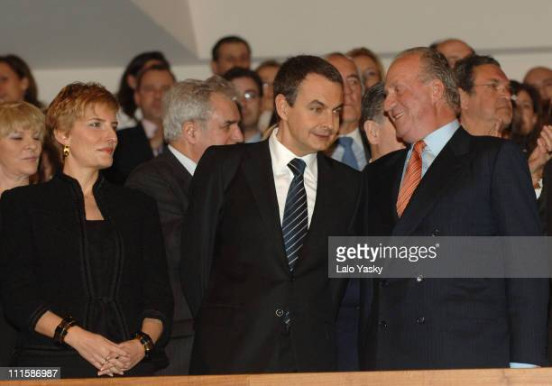 Prime MinisterIes Wife Sonsoles Espinosa Prime Minister Rodriguez Zapatero and King Juan Carlos On the eve of the second anniversary of the Madrid...