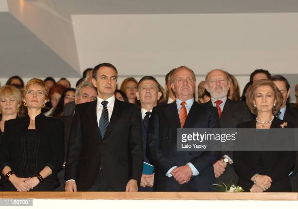 Prime MinisterIes Wife Sonsoles Espinosa Prime Minister Rodriguez Zapatero King Juan Carlos and Queen Sofia On the eve of the second anniversary of...