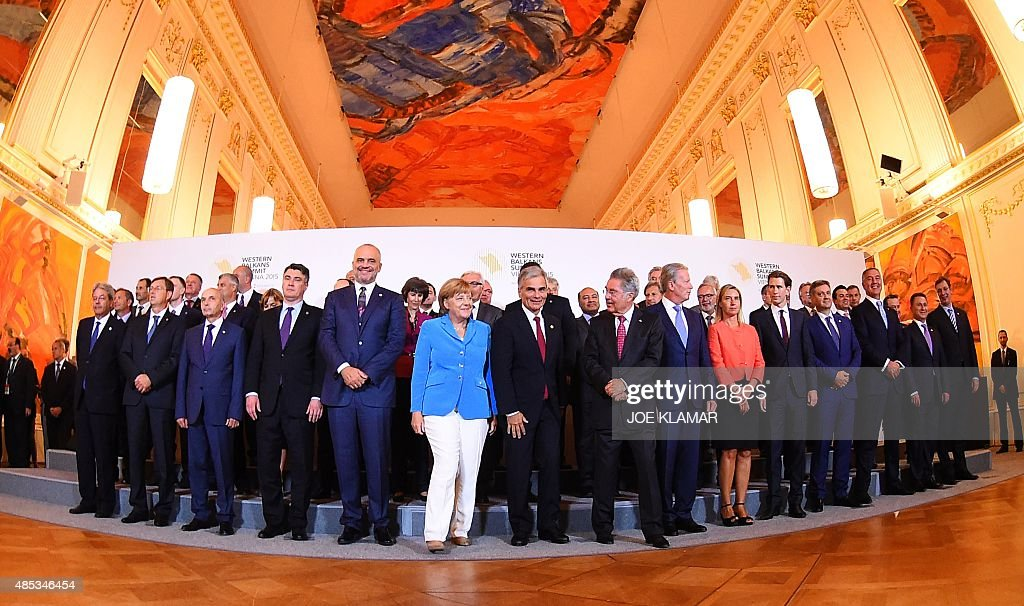 Prime Ministers and ministers of Western Balkan countries and EU Albanian Prime Minister Edi Rama German chancellor Angela Merkel Austrian chancellor...