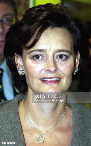 Prime Ministers wife Cherie Blair at the Alan Green Nursery West College in Hammersith London which she officially 24/11/00 Cherie was visiting her...
