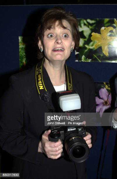 Prime Minister's wife Cherie Blair at the TUC HQ in London where she opened a photographic exhibition by Fred Jarvis former General Secretary of the...