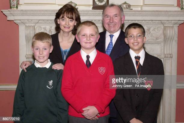 Prime Minister's wife Cherie Blair next to John Horam MP for Orpington in Surrey and local children from his constituency Charlie Wright Christopher...