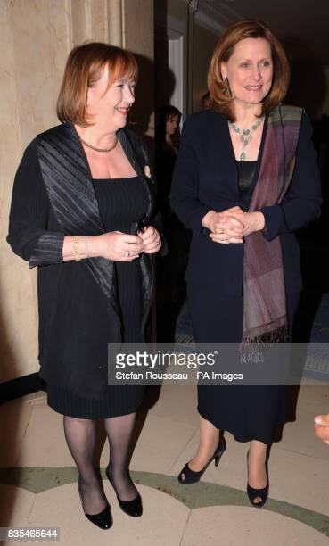Prime Minister's wife Sarah Brown arrives at a dinner for the Women In Business Conference at Claridges in London today with Baroness Simons 150...