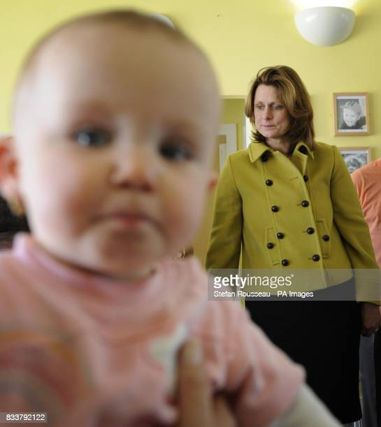 Prime Minister's wife Sarah Brown during a visit to the Kinson and West Howe Children's Centre in Bournemouth