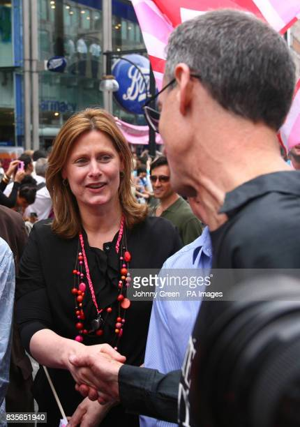 Prime Minister's wife Sarah Brown meets gay rights campaigner and Pride founder Peter Tatchell as more than half a million lesbian gay bisexual and...