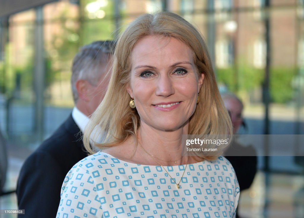 Prime minster <a gi-track='captionPersonalityLinkClicked' href=/galleries/search?phrase=Helle+Thorning-Schmidt&family=editorial&specificpeople=2485486 ng-click='$event.stopPropagation()'>Helle Thorning-Schmidt</a> of Denmark attends the inauguration of the house of foreign industry on June 10, 2013 in Copenhagen, Denmark.